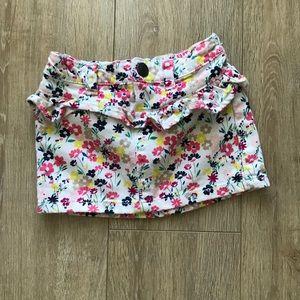 Baby girl floral denim skirt